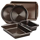 Circulon 5pc Nonstick Bakeware Set Chocolate Brown Baking Pan Set Deal (Small Image)