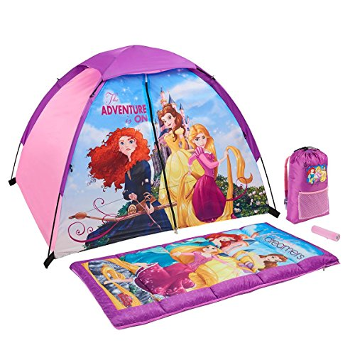 (Exxel Outdoors The Adventure is On Disney Princesses 4-Piece Camping Kit)