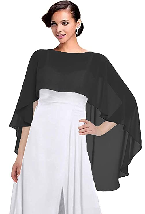 1930s Style Clothing and Fashion Capelets for women Chiffon Cape Shawls and Wraps for Evening Dress $10.99 AT vintagedancer.com
