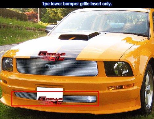 APS F66017A Polished Aluminum Billet Grille Bolt Over for select Ford Mustang Models