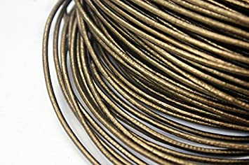 10 Yards 3mm Round Tan Natural Leather Cords Leather Strap