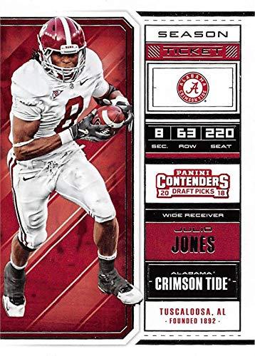bef1ec7d1 Image Unavailable. Image not available for. Color  Julio Jones football  card (Alabama Crimson Tide) ...