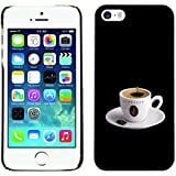 Eason Shop / Hard Slim Snap-On Case Cover Shell - Espresso Coffee Cup - For Apple iPhone 5 / 5S