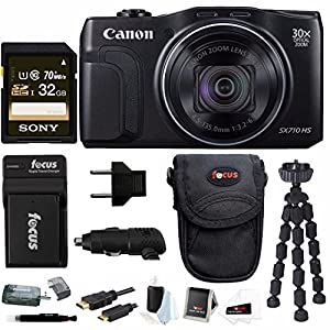 Canon Powershot SX710 HS 20.3MP Camera with 32GB Deluxe Accessory Bundle