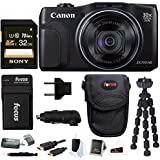 Canon Powershot SX710 HS 20.3MP Camera w/ 32GB Deluxe Accessory Bundle