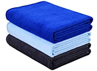 HOPESHINE Microfiber Gym Towels Fast Drying Sports Towel Fitness Workout Sweat Towels for Men & Women 3-Pack