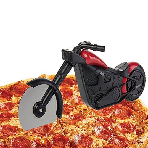 Mario Batali Pizza Crust (Pizza Wheel Cutter - 1 Piece Creative Motorcycle Shape Pizza Wheel Cutter Blade Hand Chopper Slicer Kitchen Gadgets Pizza Shovel Bike Baking Food Slicer)