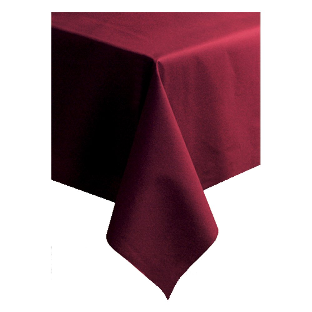 Hoffmaster 220832 Linen-Like Color in Depth Tablecover, 108'' Length x 50'' Width, Burgundy (Case of 20)