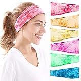 Headbands For Women, 6 PCS Yoga Running Sports