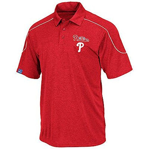 Majestic Philadelphia Phillies Run Down Synthetic Polo Shirt Big & Tall Sizes (5XT)