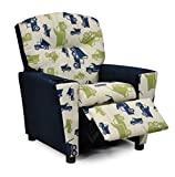 Product review for Childs Upholstered Reclining Armchair with Cup Holders - Kids Favorite Recliner Chair for Children - Choose from 2 Fun Truck Fabric Choices - Easy Care