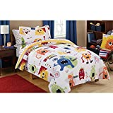Mainstays Kids Monster Mix Bed in a Bag FULL Comforter Bedding Set, Great for Boys & Girls