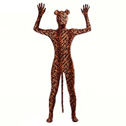 - 51NEvtzDclL - Ensnovo Adult Full Body Lycra Spandex Tiger Zentai Suit Costumes