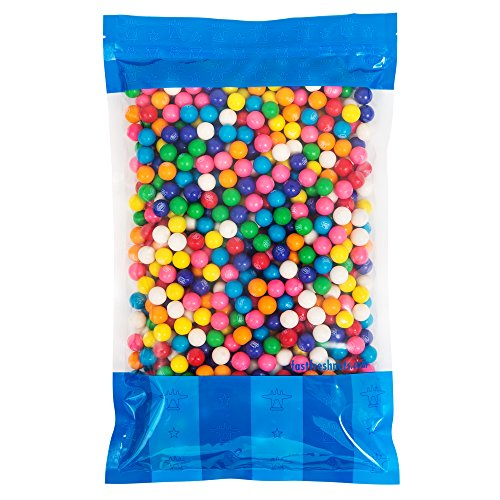 Bulk Mini Dubble Bubble Gumballs - 5 lbs in a Resealable Bomber Bag - Great for Vending Machine Refills - Wholesale - Parties ()