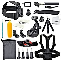 YFY 15-In-1 Basic Outdoor Sports Accessories Kit for GoPro Hero Cameras