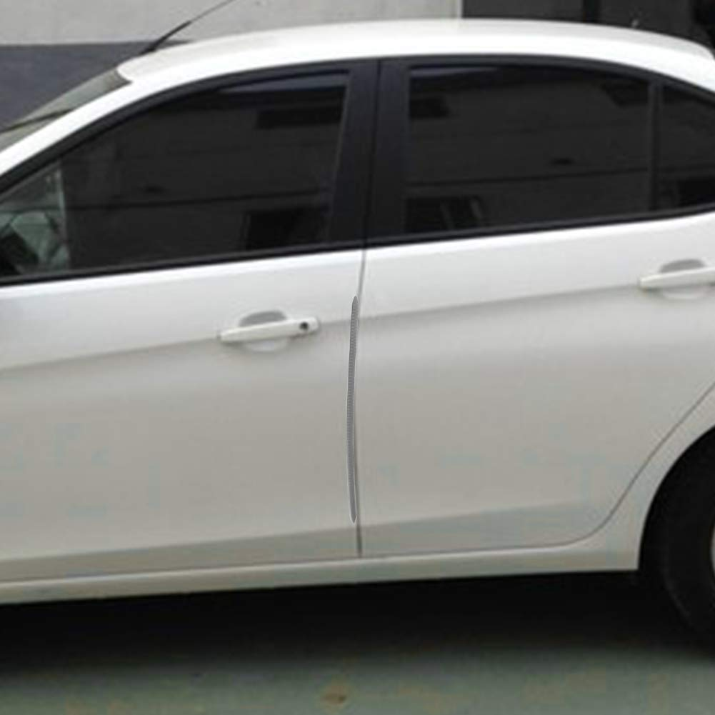 idain 4 PCS Car Auto Car Door Edge Protector Scratch Strip Guards Front Rear Bumper Protector Corner Guard,White