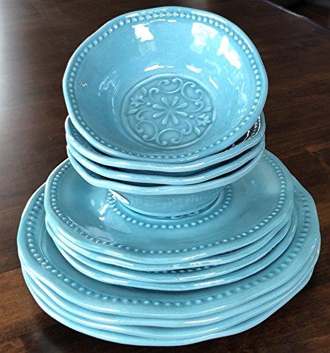 Sigrid Olsen Home Dishwasher Safe Indoor/Outdoor 100% Melamine 12 Piece Set 4 & Sigrid Olsen Home Dishwasher Safe Indoor/Outdoor 100% Melamine 12 ...