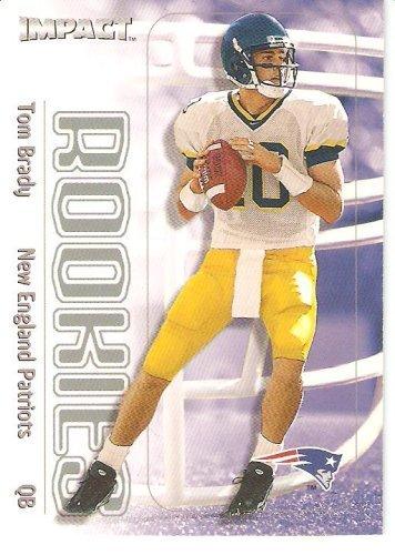 2000 Fleer SkyBox Impact Football Rookie Card #27 Tom Brady Mint