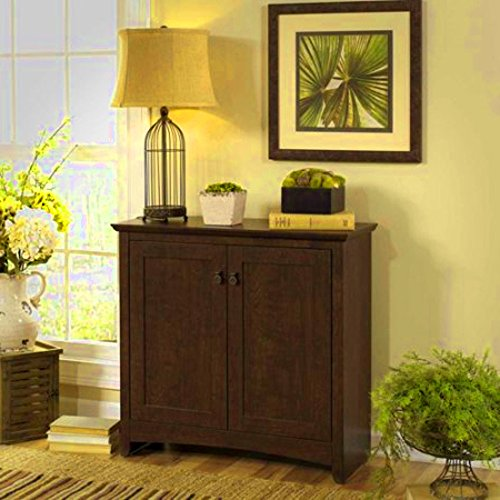 Rustic Entryway Cabinet Console Table Entryway Living Room Doors Enclosed Shelves Top Furniture & E book By Easy2Find