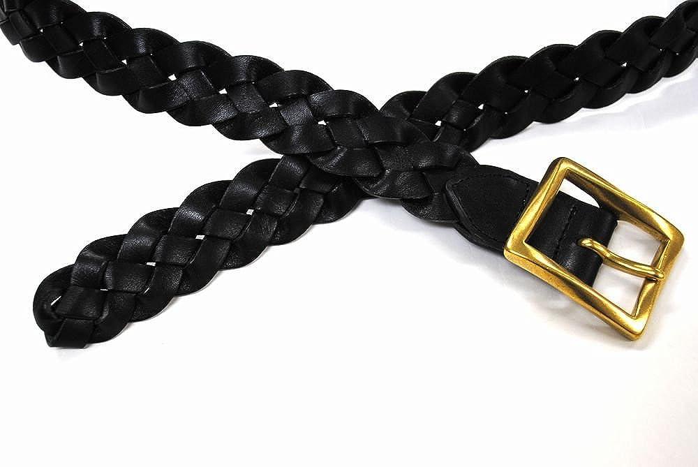 Bell la bell Mens Belt Japanese Tochigi Leather With Brass Buckle