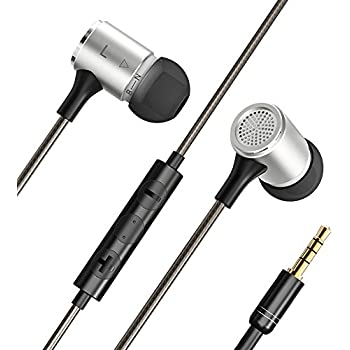 VAVA Flex Wired Earphones, Bass Stereo Earbuds Headphones, In-ear Headphones with mic (Dual EQ Modes, Inline Controls for iOS /Android, Built-in Mic, Hands-free Calling, Extra Earbuds, 3.5mm jack)