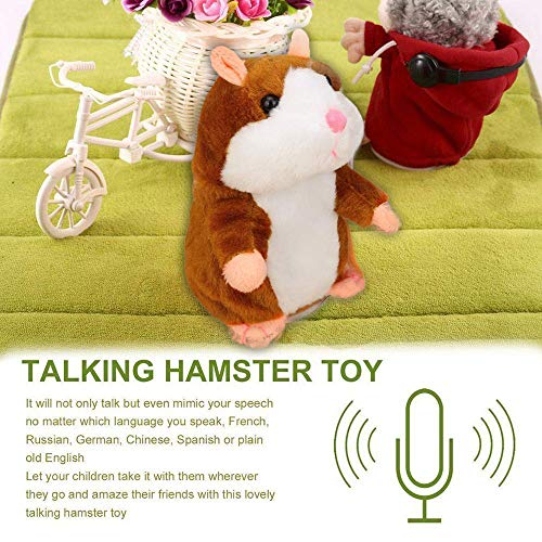 Mimicry Pet Talking Hamster Repeats What You Say Plush