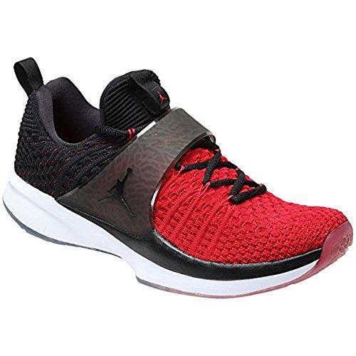 Jordan Nike Hommes Formateur 2 Flyknit Gym Rouge / Noir Noir Formation  Chaussure 10 Hommes Nous