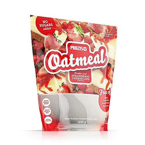 Prozis Oatmeal - Wholegrain 1250 g Strawberry Cheesecake - Source of Protein, Iron, Calcium, Vitamins, Minerals and Healthy Fats