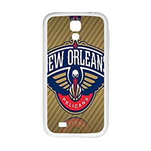 New Orleans Pelicans NBA White Phone Case for Samsung Galaxy S4 Case