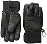 Hestra Fall Line Leather Short Ski, Ride and Park Glove,Black,8