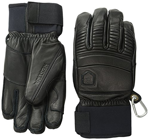 Hestra Fall Line Leather Short Ski, Ride and Park Glove,Black,7 by Hestra