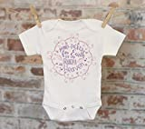 Handpicked for Earth By My Grandpa In Heaven Onesie® in Purple, Sentimental Onesie, In Memoriam Onesie