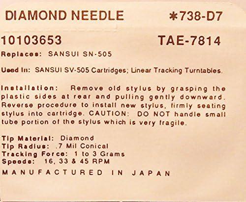 Amazon.com: Aguja para tocadiscos SANSUI SN-505 sv-505 M70 ...