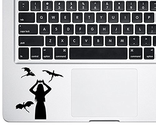 Price comparison product image Trackpad Daenerys Targaryen Game of Thrones Emilia Clarke Mother of Dragons Macbook Decal Vinyl Sticker Apple Mac Air Pro Retina Laptop sticker