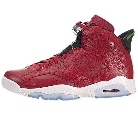 Nike Mens Air Jordan 6 Retro Spizike History of Spizike Varsity Red/Classic Green-Wht Leather Basketball Shoes Size (Air Jordan Shoe History)