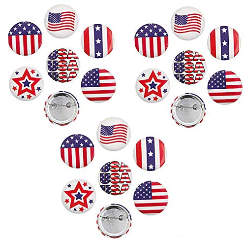 - 2 Dozen (24) Awesome Patriotic Buttons/Pins (1.5