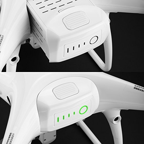 Powerextra 2-Pack Phantom 4 Series (15.2V 5350 mAh) LiPo Intelligent Flight Battery + 2-Pack Battery Safe Bag Replacement for DJI Phantom 4 Series Drones by Powerextra (Image #5)