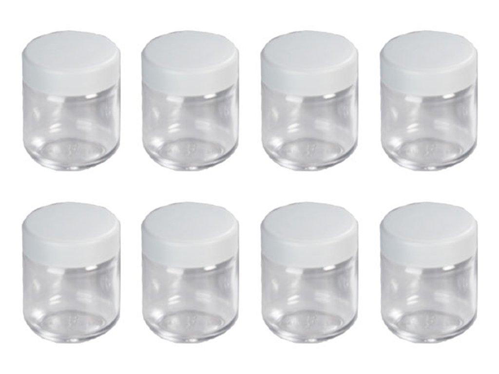 beautiful pot de yaourt en verre avec couvercle 12 pots. Black Bedroom Furniture Sets. Home Design Ideas