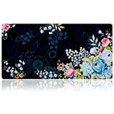 Extra Large Mouse Pad - Floral Design Gaming or Desk Mousepad - 31.5' x 15.7'x0.12''(3mm Thick)- XXL Protective Keyboard Desk Mouse Mat for Computer/Laptop(Peony)