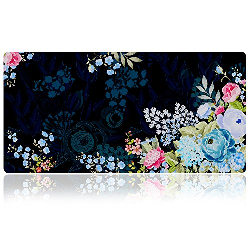 Extra Large Mouse Pad - Floral Design Gaming or Desk Mousepad - 31.5
