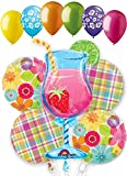 11pc Day in Paradise Summer Balloon Bouquet Decoration Party Luau Hawaii Beach