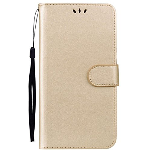 AutumnFall 2018 New Style Dual-use Card Wallet Flip Leather Case Cover For ZTE Z981 (Gold ()
