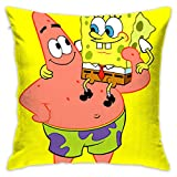 LIUYAN Pillow Cover Cushion Cover Spongebob Squarepants Decorative Pillow Case Sofa Seat Car Pillowcase Soft 18x18 Inch