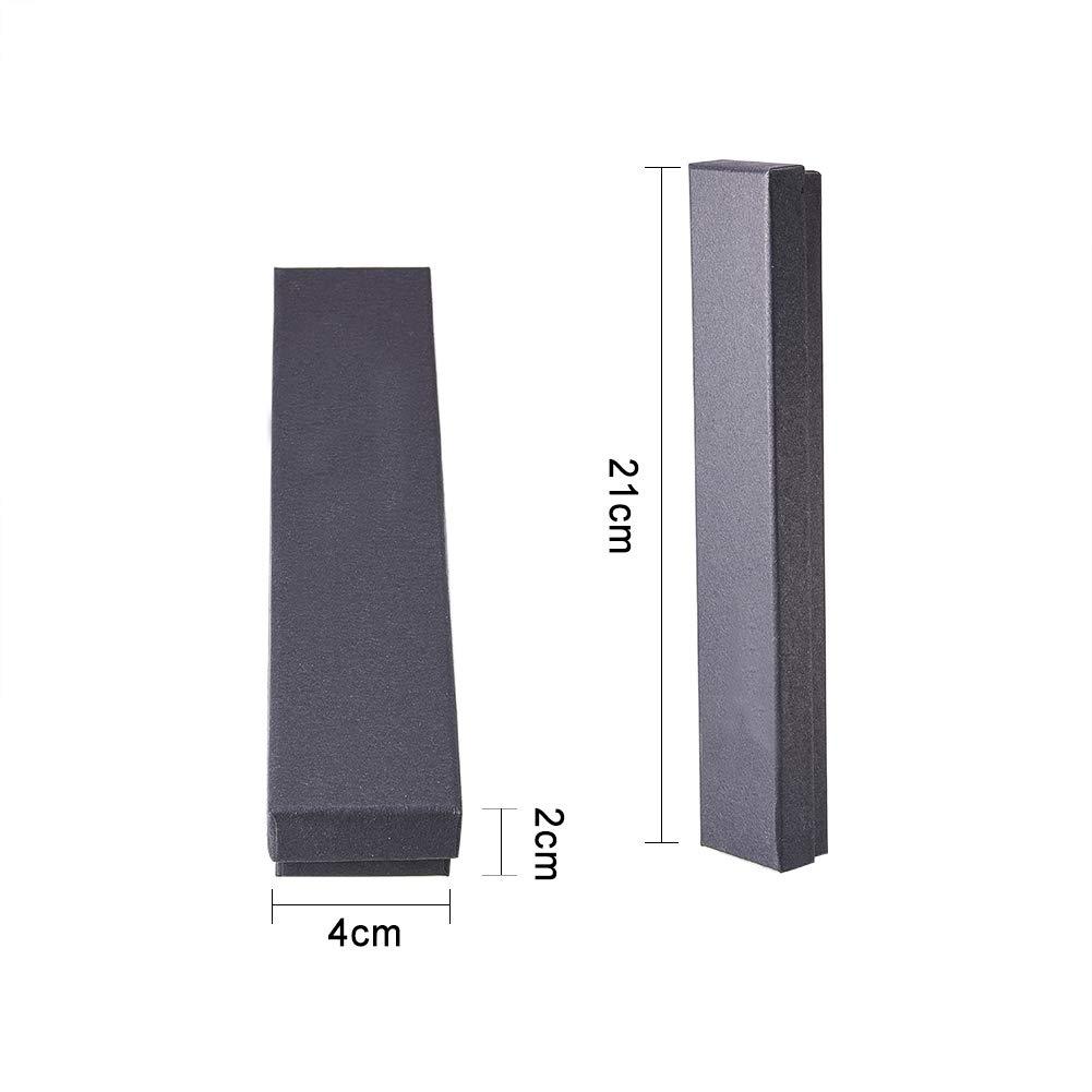 Scatola di Carta con Spugna per Bracciali Esposizione E Confezionamento di Gioielli 21x4x2cm NBEADS Set di 12 Scatola di Cartone per Gioielli Rettangolare Tan Collane