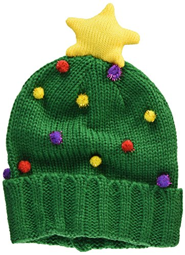 It's Our Time Women's Ugly Christmas Tree Beanie, Green, One Size