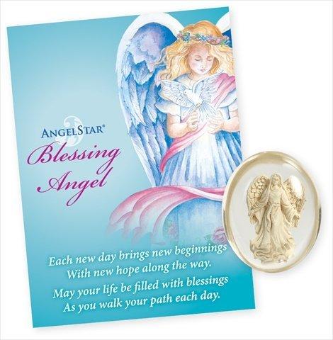 AngelStar 8707 Blessing Angel Stone - Pack of 4 ()