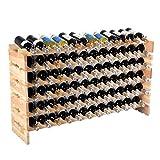 PROSPERLY U.S.Product New 72 Bottle Wood Wine Rack Stackable...
