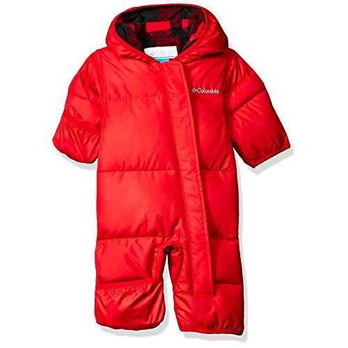 Columbia Baby Boys' Snuggly Bunny Bunting, Mountain Red Plaid, 6-12 Months