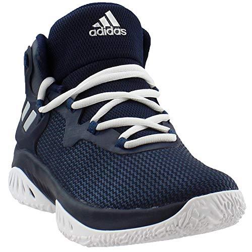 adidas Men's Explosive Bounce Basketball Shoes, Collegiate Navy/Metallic Silver/Blue Night, ((10 M US)