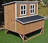 4x6 chicken coop - Omitree New Large Wood Chicken Coop Backyard Hen House 4-8 Chickens w 4 nesting box
